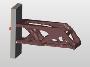 cantilever beam lower edge -Z minimize mass