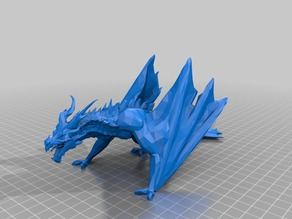 Dragon without rider (low poly)