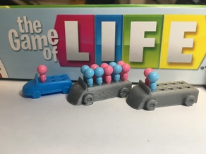 Board Game of Life, Extended Replacement Car for More Babies (8 Children Total)