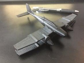 DragonFlyer Futuristic Aircraft Model