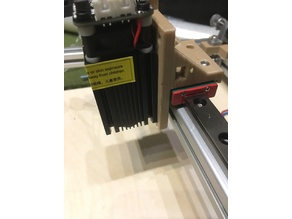 X-Carriage for MGN12H Anet Mod laser Holder