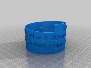k Johnson Spiral Poem Bracelet Mark 2