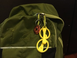 Elliptical Gears Keychain & Bag Charm