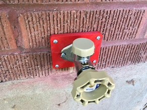 Mounting and repair frame for sillcocks, outdoor taps and outdoor facets