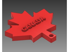 Embossed Canadian Maple Leaf Flag Keychain