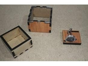 mini case for cufflinks  laser cut