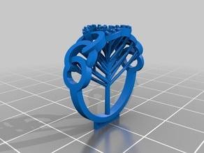 Chanel logo ring - Jewelry 3D Model