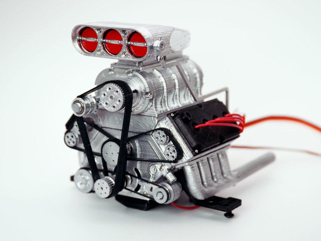 DDW 1/8 RC DOHC V8 Engine by DarkDragonWing - Thingiverse