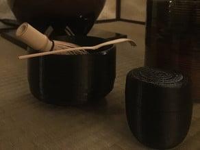 Chawan (teabowl) modeled after a raku bowl