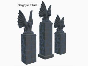 Gargoyle Pillars for Dungeons & Dragons or Warhammer 40k Tabletop Games