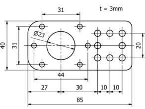 Stepper motor bracket