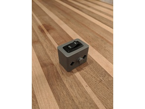 Rocker Switch Housing with T-Nut Fastener