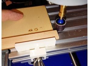 CNC router table simple edge fence