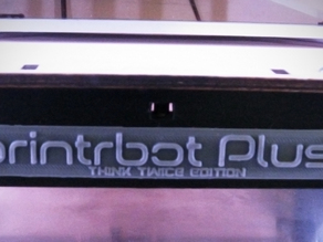 Printrbot Plus 2.1 Faceplate - Flat and square.