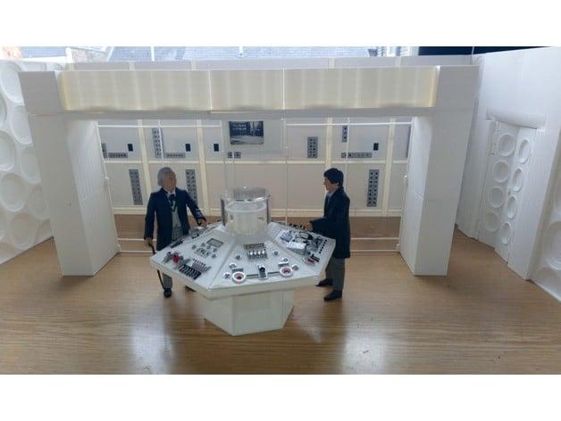 Classic Sixties Tardis interior Playset by Vargr - Thingiverse