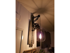 ZE Sconce Pulley Light Wall Mount