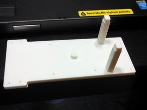 Tamiya Tracked Vehicle Chassis Adapted for Dual Gearbox Motor