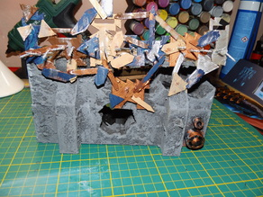 Warhammer 40k - Looted Imperial wall - ork wall - 28mm scale