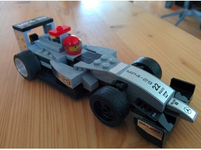 Lego Speed Champions F1 Slotcar Chassis