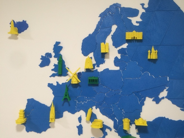 Europe Map Puzzle by utechlab Thingiverse