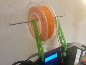 Overhead spool holder - Migbot Prusa i3 - 8mm Acrylic frame