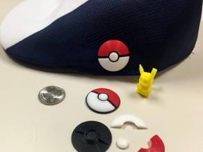 Pokéball Badge / Pin / Fridge Magnet