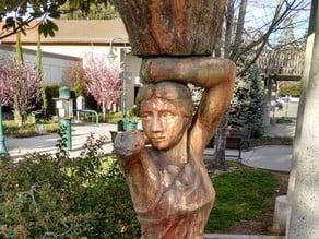 """Caryatid"" By Peter Crompton 8' Concrete Sculpture #SeeTheWorld"