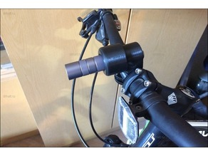 Collet flashlight holder for bicycle