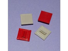 fischertechnik kompatible Bauplatte 15x15 mit Clip