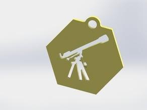 Refractor Telescope Keychain