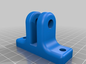 HICTOP Prusa i3  Y axis idler pulley mount (added radiused corner version)