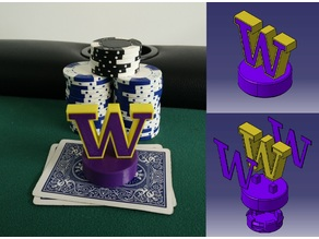 University of Washington Huskies Poker Card Capper