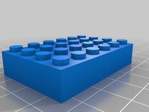 My Customized Parametric Lego Brick 6x4