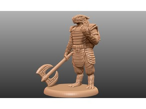 Dragonborn Eldritch Knight - Tabletop Miniature