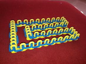 Medium chain - alternating coloured links