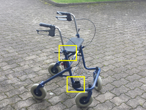 Walking Stick Rollator Mount