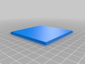 3 inch square base with magnet slot