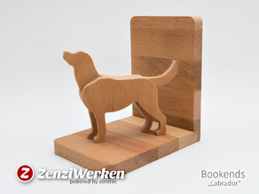 Bookends Labrador (cnc)