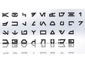 Aurebesh Letters (Star Wars Alphabet)