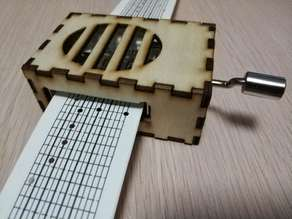 Laser Cut Diybox for 15 Note musicbox