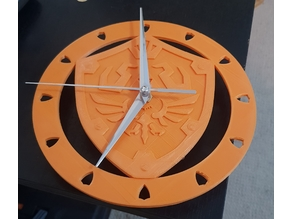 Legend of Zelda hylian shield clock