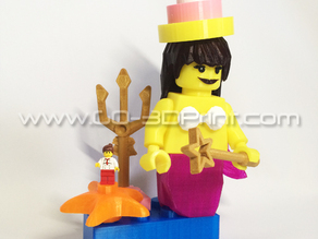Lego Giant Mermaid Mini Figure w/ Birthday Hat