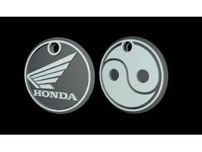 Honda + Yin Yang keychain
