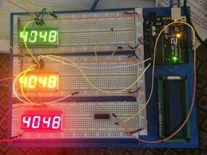 arduino stand plus 3 x large breadboard inserts