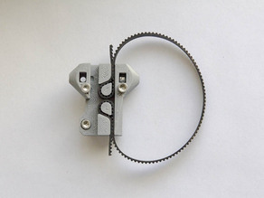 Remix of Self locking Kossel mini carriage with Variable Beltway Width