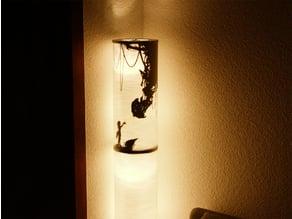 GlaDOS lamp silhouette 2.0