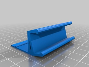 Soporte simple para tira de leds bajo mueble de cocina