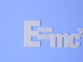 Einstein formula - E=mc2