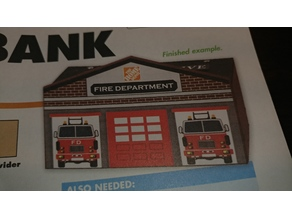 Fire Department Bank (Wood Project)