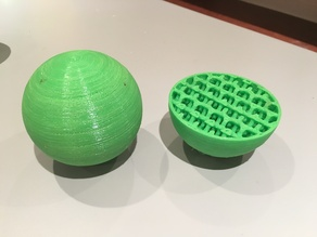 NinjaFlex Bouncy Balls with Internal Lattice